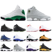 зелёная змеиная обувь мужчины оптовых-NIKE AIR JORDAN 13  AJ13 Flint Bred Chicago Lucky Green Aurora Green Playground Men Basketball Shoes aj13 Reverse He Got Game Melo DMP