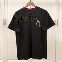 cool camisa logotipos venda por atacado-19ss primavera verão luxo europa paris reverso logotipo fitas t-shirt das mulheres dos homens de moda clothing legal skate camiseta casual tee