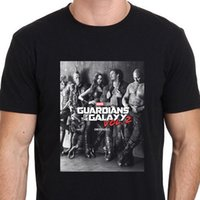 guardiões filme galáxia venda por atacado-Guardião da galáxia 2 Movie Poster T-Shirt Tee tamanho S para 3XL