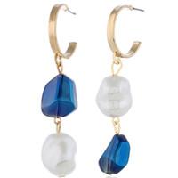ingrosso ol stile gioielli-Coreano perla simulata lungo nappa orecchini a goccia per le donne stile OL dolce ciondola gli orecchini brincos regalo gioielli di partito