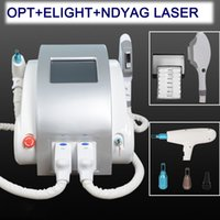 Wholesale portable laser hair removal machines resale online - 3 in portable Q switched nd yag laser tattoo removal IPL SHR hair removal pigment removal laser machine