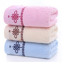 Wholesale back washing towel resale online - Factory holiday gift jacquard towel home simple thickening wash face towel soft back to the merchant super towel