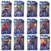 şaşkın süper kahramanlar aksiyon figürleri toptan satış-Marvel Oyuncaklar ile avengers Aksiyon Figürleri led Süper Kahraman Thor Hulk Kaptan Amerika Action Figure Koleksiyon Modeli Bebek çocuk oyuncakları