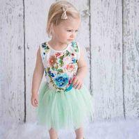 rose mädchen anzüge großhandel-Baby Mädchen Rock Anzug Kinder Designer Kleidung Mädchen Rose Blumen Kurzarm Klettern Anzug TUTU Rock 49