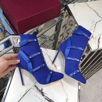 Wholesale boots shops resale online - Top designer boots fashion rivet leather sewing warm socks boots autumn and winter shopping walking high heels women s Boots Free Deliv