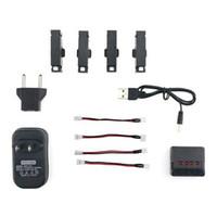 Wholesale jjrc h37 resale online - 4PCS V mAh C Li po Battery and Charger Set for JJRC H37 Mini Baby Elfie