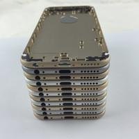 châssis iphone 5s achat en gros de-100% nouveau logement arrière pour iPhone 5s 6 6+ 6S plus couvercle de la batterie arrière porte arrière iphone 6s logement arrière cas remplacement du châssis moyen