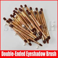 Wholesale sculpting hair brush for sale - Group buy Makeup Brush Double ended Eyeshadow Contour Sculpting Pinceau make up brush with opp bag