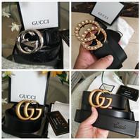 anillo de ópalo de oro amarillo al por mayor-g Hombres de la marca Hot Fashion Gg hebilla cinturones V de diseñador de cuero genuino de moda para hombres Carta doble hebilla H hombres mujeres cinturones GUCCI