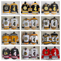 Wholesale xxl lace tops online – Top Quality Mens Bobby Orr Jersey Boston Bruins Chicago Blackhawks Bobby Orr Hockey Jerseys Vintage CCM Bruins lace Stitched A Patch