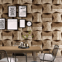 Wholesale nostalgic wallpaper resale online - 3D marble stone pattern PVC wallpaper vintage nostalgic antique personality bar industrial wind background wall wallpaper