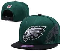águila bordada al por mayor-Diseñador Top Philadelphia ajustable bordado águila Snapback sombreros al aire libre verano hombres gorras de baloncesto viseras de béisbol mujeres gorra de baloncesto