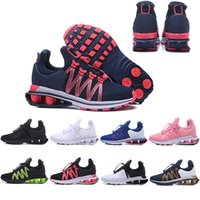 Wholesale famous sneakers men for sale - Group buy 2019 Shox Deliver Men Air Running Shoes Famous DELIVER OZ NZ Women Mens Black peach red Blue Athletic Sneakers Sports