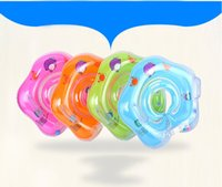 Wholesale baby swimming ring swim tube resale online - Swim Neck Ring Float Baby Swimming Ring Swim Tube For baby Accessories New Inflatable Circle Funny Ring Safety Neck Float Vest