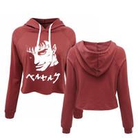 menina japonesa sexy novo venda por atacado-Novo Japão Anime Manga Anime Encabeça Hoodies Das Mulheres Negras Japonesas Engraçadas 00S Meninas Moda Sexy Cropped Sweatshirts