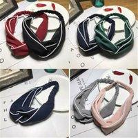 venda del pañuelo blanco al por mayor-7 colores banda lateral del pelo blanco niñas diadema venda del diseñador Bandana diademas regalos bufanda principal regalos de Navidad para mujeres
