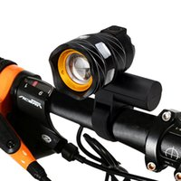 Wholesale 15000LM T6 LED USB Line Rear Light Adjustable Bicycle Light mAh Rechargeable Battery Zoomable Front Bike Headlight Lamp