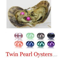 Wholesale natural cultured pearls loose resale online - 2020 SeaWater mm Natural Akoya Round Twins Pearls Loose Beads Cultured Fresh Oyster Pearl Mussel Farm Supply Dropshipping