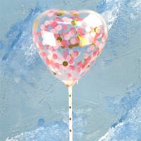 şişirilebilir tezahürat balonları toptan satış-Sevgililer günü aşk kalp Balon Sequins bling kek balonlar Festivali Doğum Günü Parti Malzemeleri dekorasyon Düğün madeni pul Airballoon haber ...