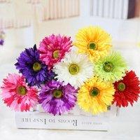 strauß flores artificiais groihandel-10 Zweig 48cm Künstliche Gerbera-Blumen-Blumenstrauß-Hausgarten Büro Schlafzimmer Dekoration Gefälschte Silk Blumen flores artificiais