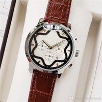 партийные группы оптовых-роскошные мужские часы Six Needle Leather Band дизайнерские часы Party Quartz Chronograph Watchluxury мужские часы день дата orologio da donna