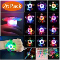Wholesale glow spinning toy for sale - Group buy Halloween Gift LED Party Favor Spin Relief Anxiety Toy Light Up Glow Flashing decora Gift led toys for kids
