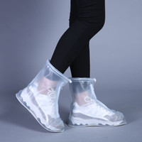 ingrosso le scarpe impermeabili coprono le donne-Nuovi pioggia all'aperto calza gli stivali coperture impermeabili antiscivolo Scarpe Copriscarpe galosce di viaggio per Uomo Donna Bambini
