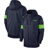 hoodies kadın xxxl toptan satış-Erkekler ve kadınlar Seattle Vintage Seahawks Sideline Performans Tam Zip Hoodie - Kolaj Donanma sweatshirt