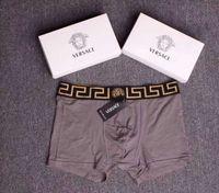 erkekler için kaliteli iç çamaşırı toptan satış-2019 Lüks Tasarımcı Erkekler Iç Çamaşırı Kutusu Ile Pamuk Yumuşak Boksör Yüksek Kalite Erkekler Külot Seksi Erkek Iç Çamaşırı Ev Giyim