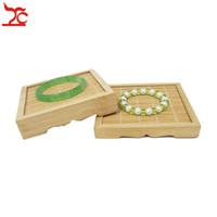 ingrosso orologi naturali-Incredibile supporto di visualizzazione dei gioielli in bambù Bracciale in giada di bambù naturale Bracciale con anello per tè Orologio accessorio per esposizione