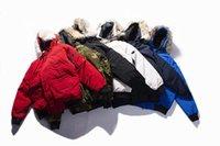 gänsehaut mantel verkauf großhandel-Top-Qualität Wolf Pelz unten coatman New Gans Herren Guse Chateau Black Navy Grau Daunenjacke Wintermantel Parka Verkauf 01