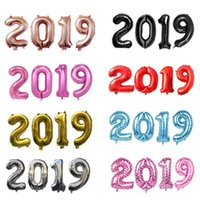 Wholesale painting balloons resale online - 40inch painting by numbers foil balloons happy new year s eve parties digital helium balloon wedding decor MMA1245