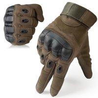 ingrosso guanti tattici a dito pieno di sport all'aria aperta-All'ingrosso Outdoor Sport Tactical Guanti Full Finger per l'escursione a cavallo in bicicletta Guanti da uomo armatura di protezione Shell