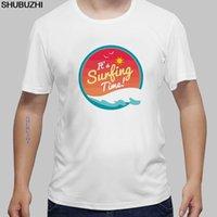 güneş kıyafetleri toptan satış-Yaz Tatili Erkek Short Sleeve Elbise Sunshine Palm Tree T-shirt Surffing Trooper T Gömlek Casual Top Tees Euro boyutu