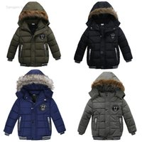 Wholesale cotton blends kids outwear coats for sale - Baby boy thicken coat Boys Cotton padded Clothes Winter warm Fashion children outwear clothing kids camouflage clothes drop shipping