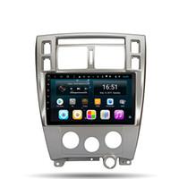 hyundai radio gps оптовых-Android встроенный Wifi микрофон GPS Navitel android автомобиль высокое качество GPS мультимедиа видео радио плеер в тире для Hyundai Tucson 2004-2010