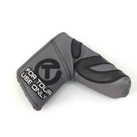 ingrosso lama di montaggio-2019 New Round T For Tour Use Golf Putter Headcover Adatto a Blade Putter per alta qualità
