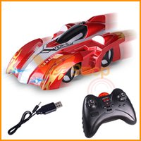 Wholesale rc climb car for sale - Group buy Remote Control Wall Climbing Stunt Climber RC Car LED Lights Glass Floor Charging Car Model Electric RC Car Toys for Boys Gift