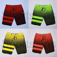 traje de baño gradiente al por mayor-2019 nuevos hombres traje de baño gradiente de secado rápido impermeable pantalones cortos de surf tubo recto pantalones cortos de playa diseñador marca pantalones cortos casuales 05