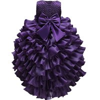 Wholesale red infant formal dress for sale - Group buy princess kids Clothes Wedding Party Dress Toddler Girl Formal Ball Gown Infant Children Christmas Costumes Girls cloMX190912MX190912