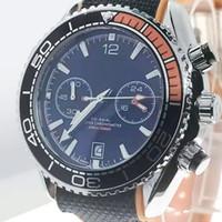 reloj de cinta para hombre al por mayor-Venta al por mayor relojes para hombre de la banda 007 cronógrafo 215,32 orologio di relojes de movimiento de cuarzo desingers 45 MM Dial relojes de pulsera de la correa de la cinta