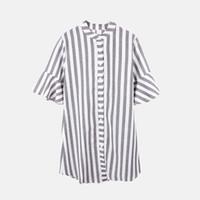 Wholesale shirt dresses for work resale online - Summer Women Shirt Dresses Autumn Boho Casual Butterfly Sleeve Striped Midi Beach Holiday Dress Shirt For Women Vestido designer clothes