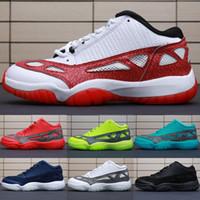 surligneur rouge achat en gros de-Surligneurs de chaussures de basketball pour enfants, 11s, rouge, vert, bleu, Oreo, noir, blanc, enfants de jeunes BHM, Jumpman 11 XI, baskets, bottes de baskets