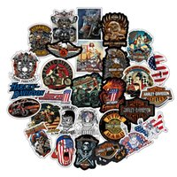 Wholesale cartoon mixed sticker for sale - Group buy 50 Mixed Skateboard Sticker Racing For Harley Car Laptop Luggage Guitar PVC Decal Phone Bicycle Fridge Motorcycle Graffiti Stickers