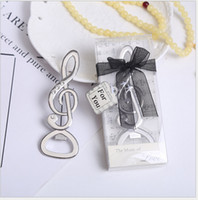 Wholesale metal souvenirs for wedding resale online - Creative Music Notation Metal Beer Bottle Opener Wedding Souvenirs Music Bottle Opener Birthday Anniversary Gift For Guest RRA2863