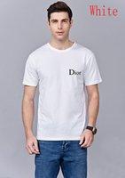 ingrosso t-shirt bianche lunghe da uomo-Shirt Fashion Designer magliette girocollo T per gli uomini lungocamicia di lusso T Abbigliamento Uomo Dior manica bianca casual Polo Abbigliamento S-XXL
