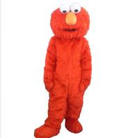 elmo kleider großhandel-kostüme Erwachsene elmo Maskottchenkostüme für Verkauf Halloween-Outfit-Abendkleid-Anzug elmo erwachsene Kleidung