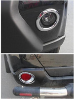 ingrosso accessori nissan x trail-4 pz Anteriore + Posteriore Fendinebbia Paraurti Lampada Chrome Copertura Trim Per Nissan X-Trail X Trail T31 2012 2013 Car Styling Sticker Accessori