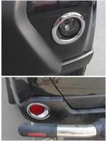 accesorios nissan x trail al por mayor-4 unids frente + luz antiniebla trasera parachoques cromo recortar cubierta para Nissan X-Trail X Trail T31 2012 2013 car caring etiqueta engomada accesorios