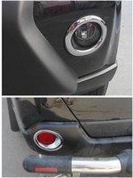 nissan x trail accessoires achat en gros de-4pcs Avant + Arrière Antibrouillard Lampe Bumper Chrome Garniture Couverture Pour Nissan X-Trail X Trail T31 2012 2013 Car Styling Autocollant Accessoires